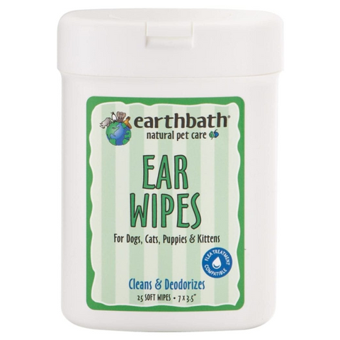 Earthbath Ear Wipes 25 ct