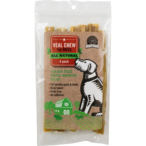 "SILVER SPUR VEAL CHEW 5-6"" 6PK"