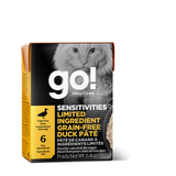 GO! CAT SENSITIVITIES LID GF Duck Pate Tetra 6.4oz