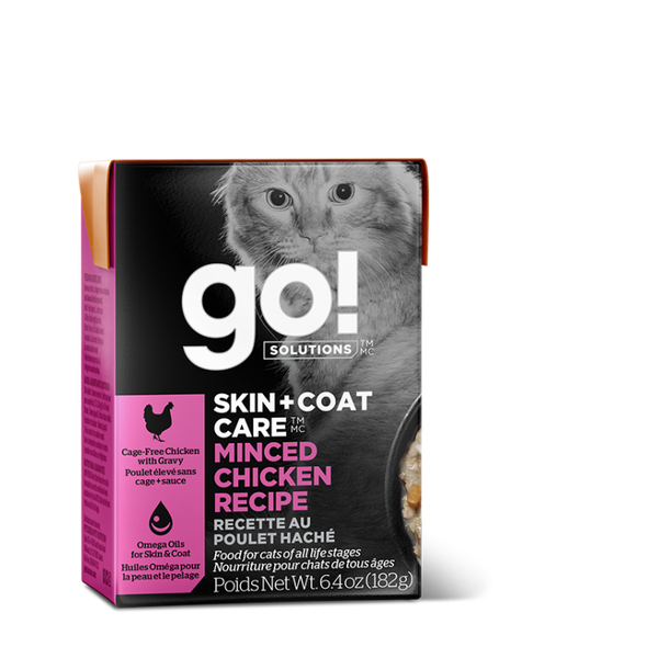 GO! CAT SKIN + COAT CARE Minced Chicken Tetra