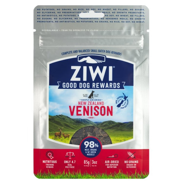 ZIWI PEAK 'GOOD DOG' TREATS: VENISON RECIPE
