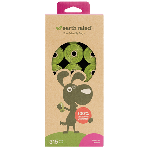 Earth Rated Refill Bags | 21 Rolls 315 Bags
