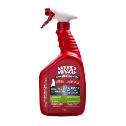 Nature's Miracle Cat Advanced Stain & Odour Remover Spray 946 mL
