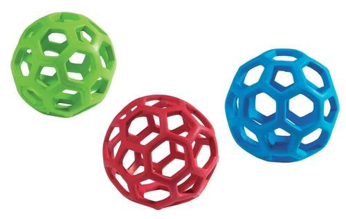 JW HOL-EE ROLLER DOG TOY ASSORTED COLORS