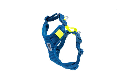 RC PET MOTO CONTROL HARNESS-ARCTIC BLUE/TENNIS