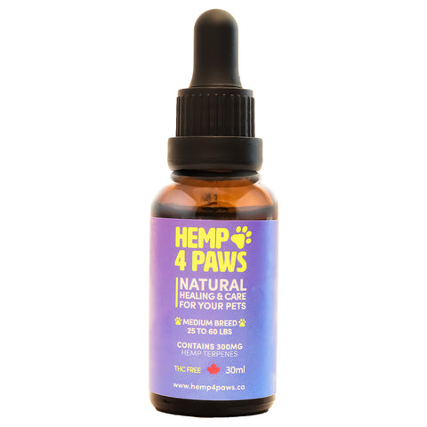 HEMP 4 PAWS : Hemp Seed Oil Medium Breed 300MG/30ML