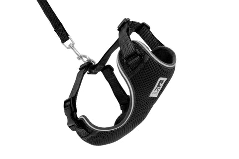 RC PET ADVENTURE KITTY HARNESS-BLACK