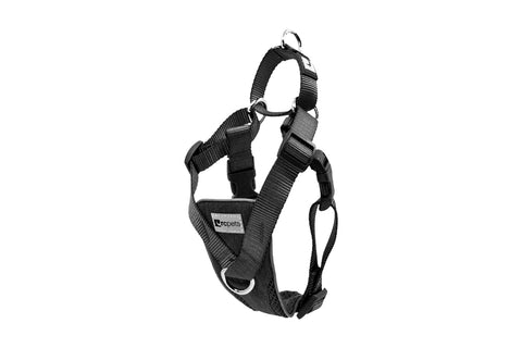 RC PET TEMPO NO PULL HARNESS-HEATHER BLACK