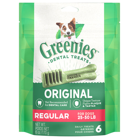 GREENIES DENTAL TREATS: REGULAR 25-50LBS