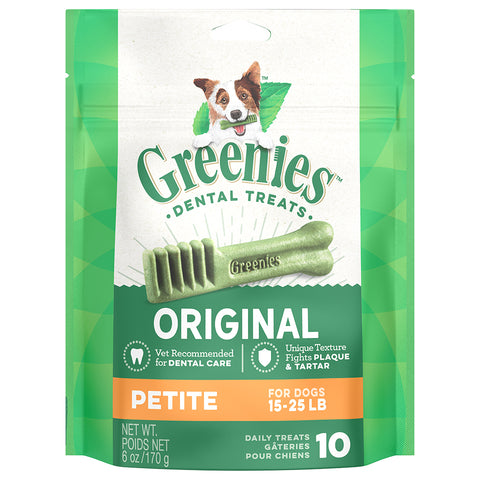 GREENIES DENTAL TREATS: PETITE 15-25LBS
