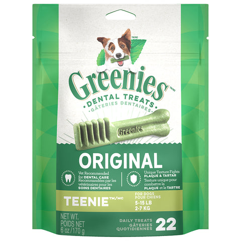 GREENIES DENTAL TREATS: TEENIE 5-15LBS