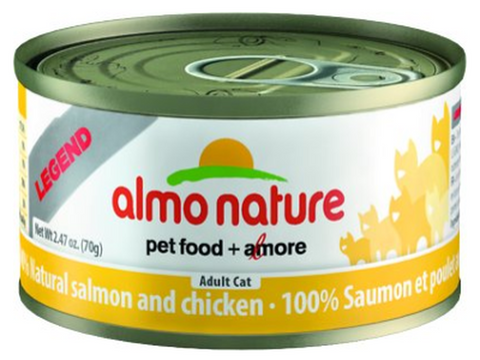 ALMO NATURE CAN: NATURAL SALMON AND CHICKEN 24/CASE