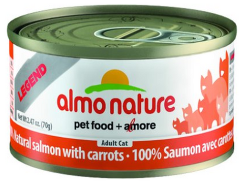 ALMO NATURE CAN: NATURAL SALMON WITH CARROTS 24/CASE