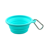 FFD Pet Silicone Collapsible Travel BowlTeal SM