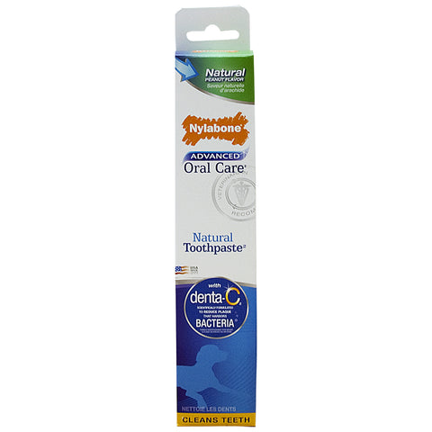 NYLABONE ADVANCED ORAL CARE NATURAL PEANUT FLAVOR TOOTHPASTE