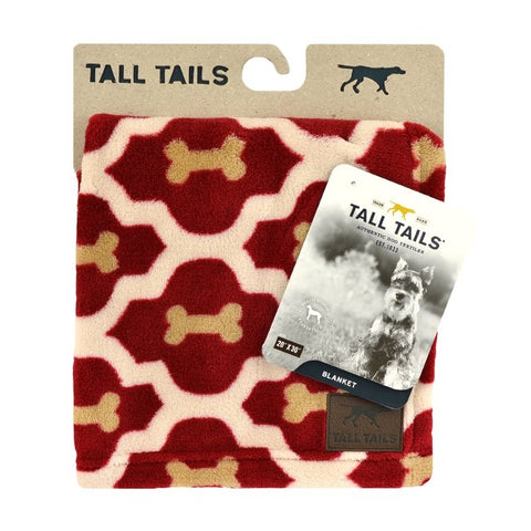 Tall Tails Red Bone Blanket