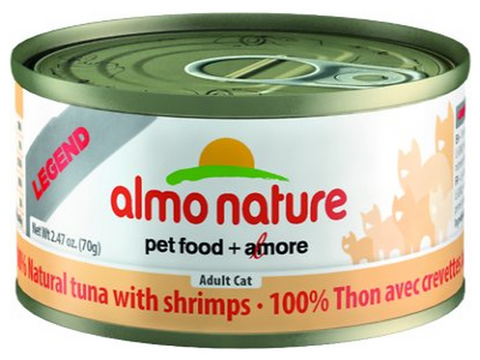 ALMO NATURE CAN: NATURAL TUNA WITH SHRIMP 24/CASE
