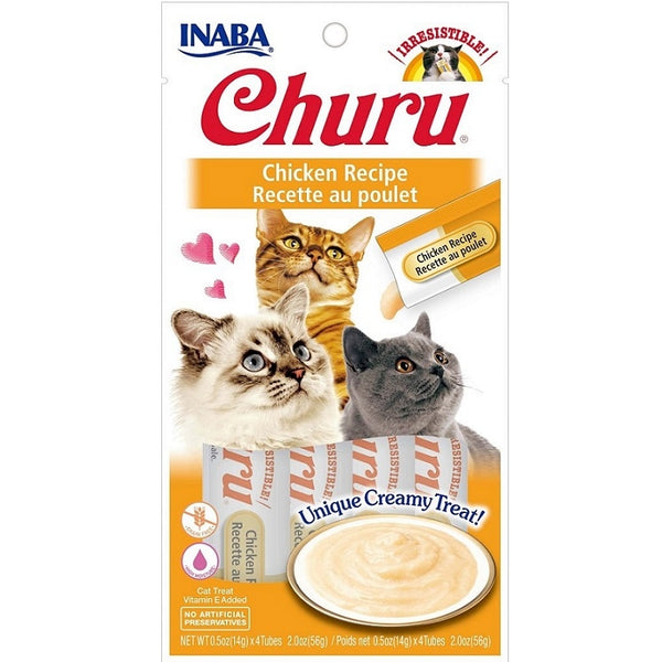 INABA Churu Puree Chicken 4pk 2oz