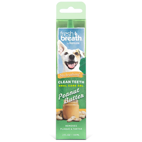 TropiClean Fresh Breath Clean Teeth Gel Peanut Butter 2 oz