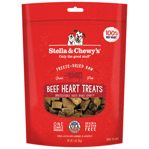 STELLA & CHEWY'S FD BEEF HEARTS TREAT 3OZ