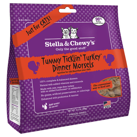 STELLA & CHEWY'S TUMMY TICKLIN' TURKEY DINNER MORSELS CAT