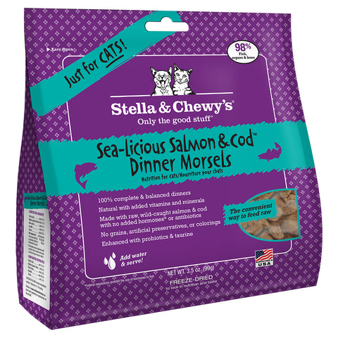 STELLA & CHEWY'S SEA-LISCIOUS SALMON & COD DINNER MORSELS CAT