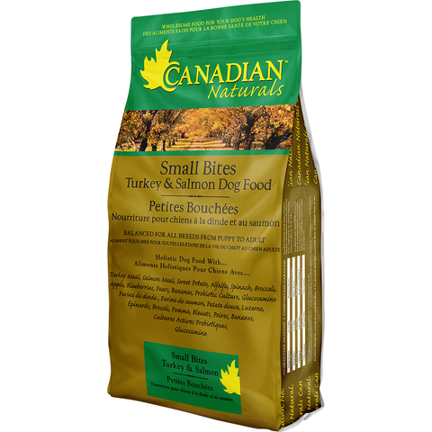 CANADIAN NATURALS SMALL BITES TURKEY & SALMON DOG FOOD