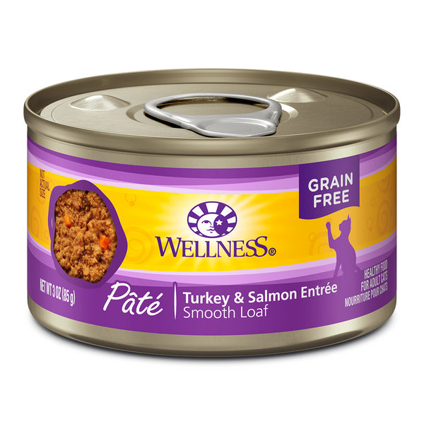 WELLNESS CAN: TURKEY & SALMON FORMULA CAT 24/CASE