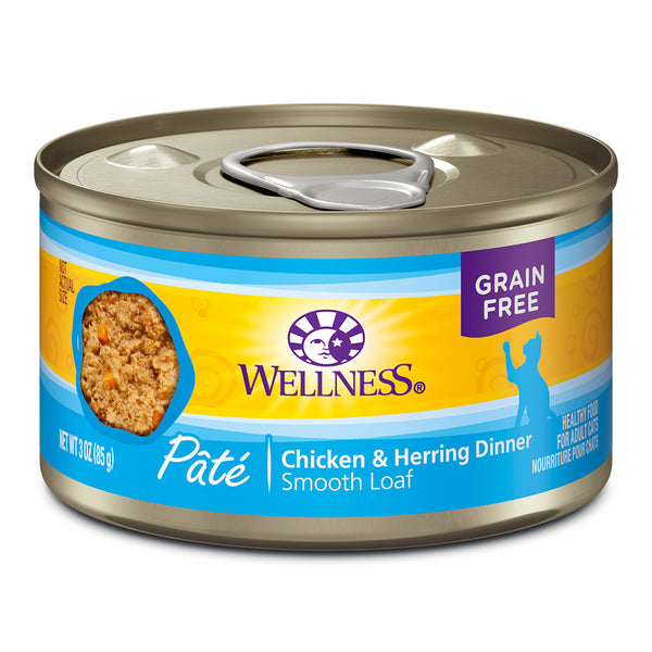 WELLNESS CAN: CHICKEN & HERRING FORMULA CAT 24/CASE
