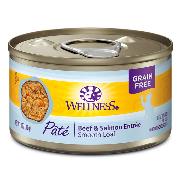 WELLNESS CAN: BEEF & SALMON FORMULA CAT 24/CASE