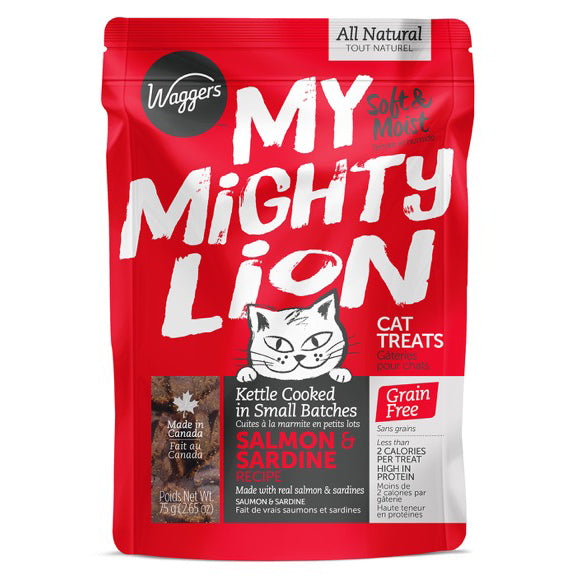MY MIGHTY LION SALMON & SARDINE RECIPE CAT TREATS