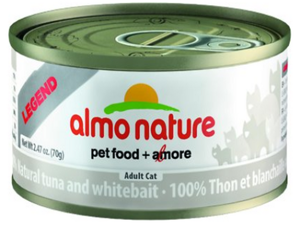 ALMO NATURE CAN: NATURAL TUNA AND WHITEBAIT 24/CASE