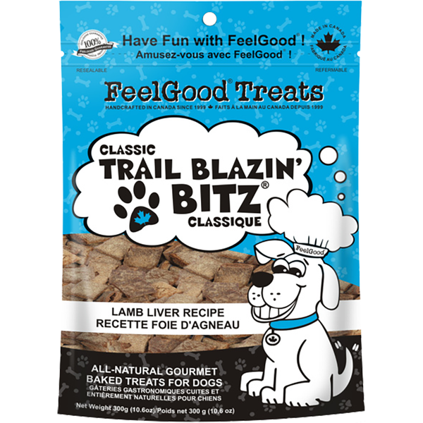 FEELGOOD : CLASSIC TRAIL BLAZIN' BITZ LAMB LIVER 10.2OZ