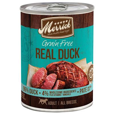 MERRICK 96% CAN: REAL DUCK FORMULA 12/CASE