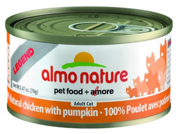 ALMO NATURE CAN: NATURAL CHICKEN WITH PUMPKIN 24/CASE