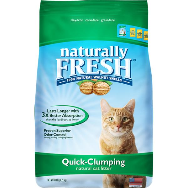 NATURALLY FRESH WALNUT BASED QUICK-CLUMPING CAT LITTER