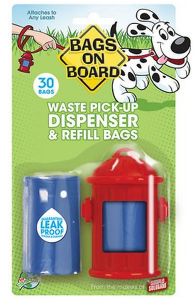 BAGS ON BOARD WASTE PICK-UP DISPENSER & REFILL BAGS