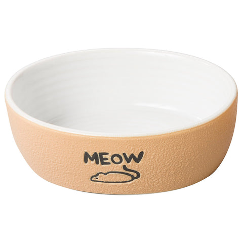 NANTUCKET MEOW DISH TAN 5INCH
