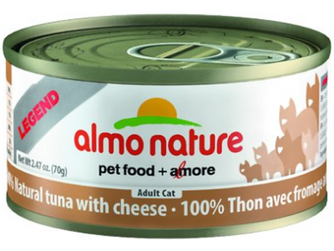 ALMO NATURE: NATURAL TUNA WITH CHEESE 24/CASE