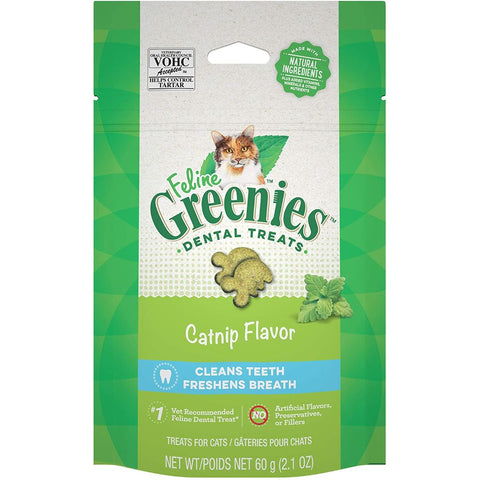 GREENIES FELINE DENTAL TREATS: CATNIP FLAVOR
