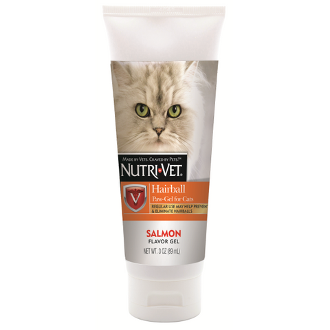 Nutri-Vet : Hairball Paw Gel For Cats Salmon 3 oz