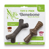 Benebone Adult Zaggler TINY Bacon Stick 2pk