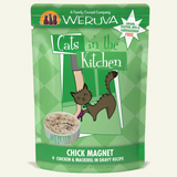 "WERUVA CATS IN THE KITCHEN POUCH: ""CHICK MAGNET"" CHICKEN & MACKEREL IN GRAVY RECIPE 8/CASE"