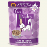 "WERUVA CATS IN THE KITCHEN POUCH: ""LOVE ME TENDER"" CHICKEN & DUCK IN GRAVY RECIPE 8/CASE"