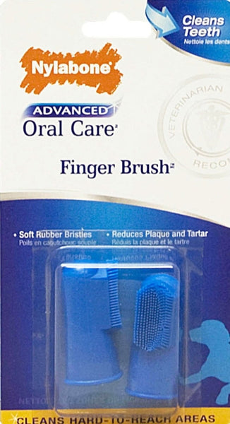 NYLABONE ADVANCED ORAL CARE FINGER BRUSH 2PK