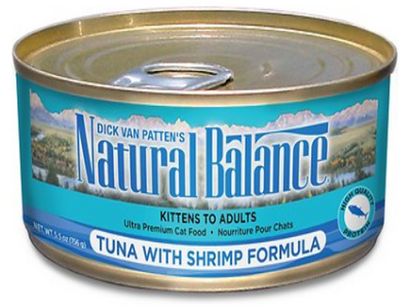 NATURAL BALANCE CAN: TUNA WITH SHRIMP FORMULA CAT 24/CASE