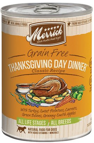 MERRICK CAN: THANKSGIVING DAY DINNER RECIPE 12/CASE