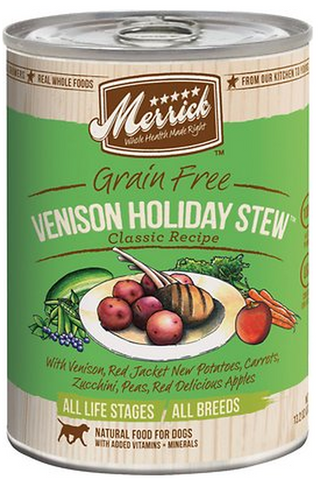 MERRICK CAN: VENISON HOLIDAY STEW RECIPE 12/CASE