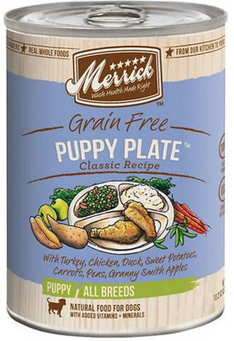 MERRICK CAN: PUPPY PLATE RECIPE 12/CASE
