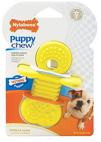NYLABONE PUPPY CHEW RUBBER TEETHER DOG TOY